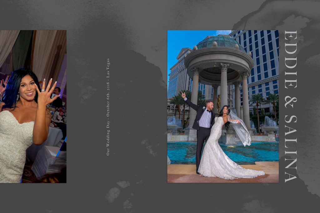 Luxury Album cover of Eddie and Salina's wedding in Las Vegas at Caesars Palace