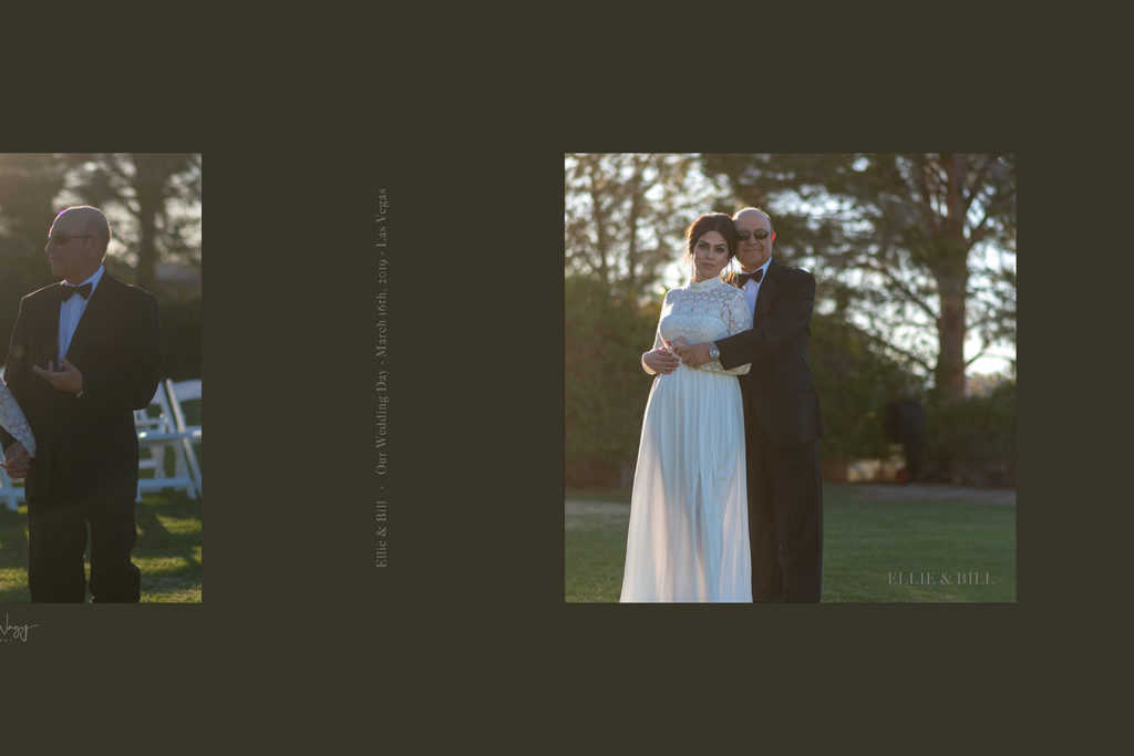 Photo Book cover of Ellie and Bill's wedding at Lake Las Vegas