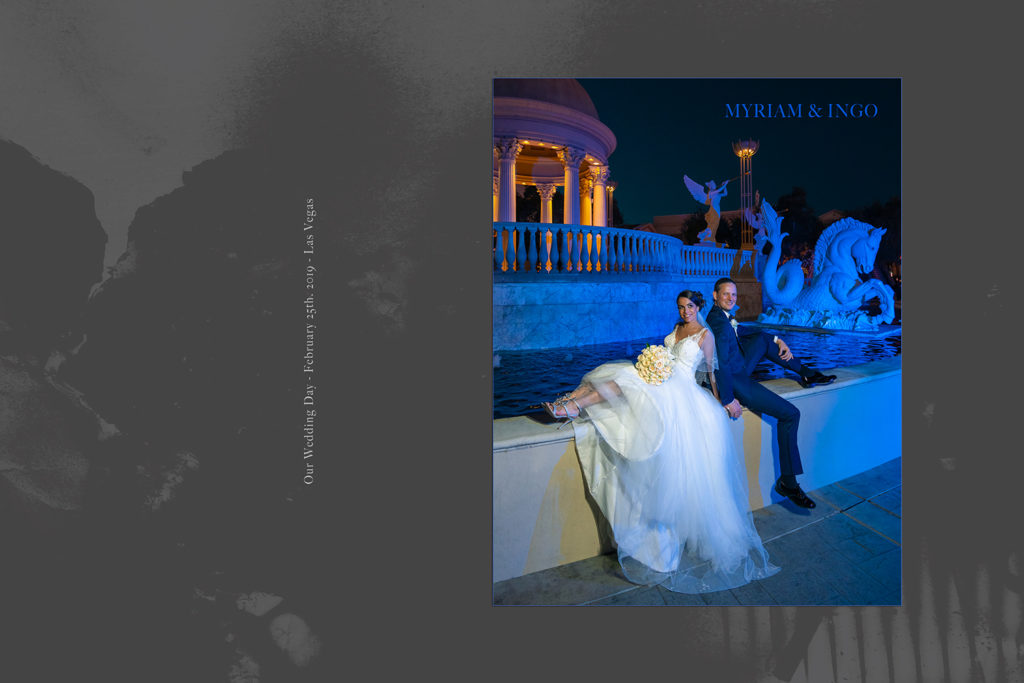 Luxury Album cover of Myriam and Ingo's wedding in Las Vegas