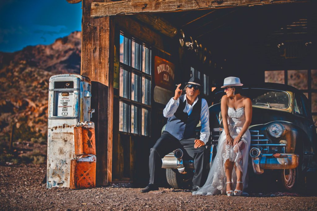 Las Vegas wedding photographer | Desert weddings | Nelson Ghost town wedding photography