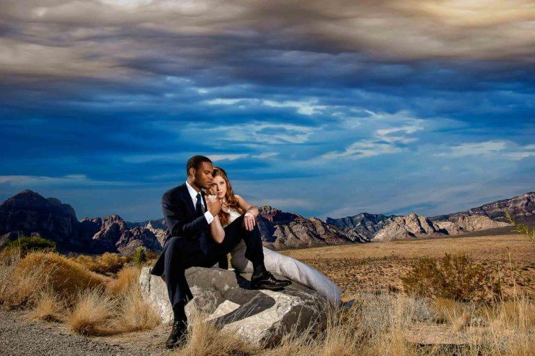 Las Vegas photographer Red Rock Canyon desert elopement photo