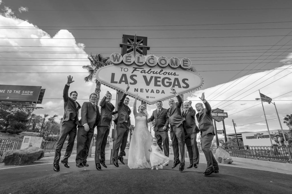 Las Vegas wedding photography | Las Vegas sign weddings