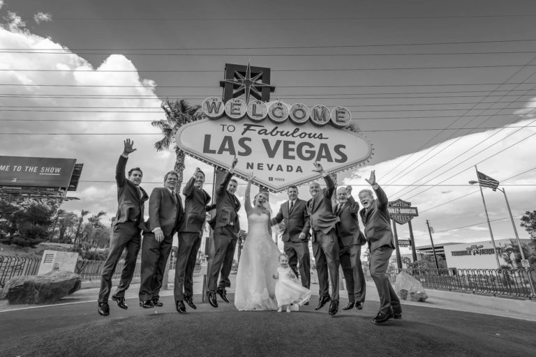 Las Vegas strip wedding photography | Las Vegas sign wedding photography