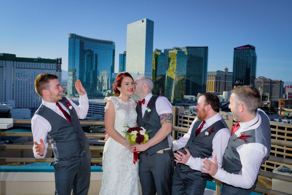 Las Vegas wedding photographer | MGM Grand skyline terrace suite weddings