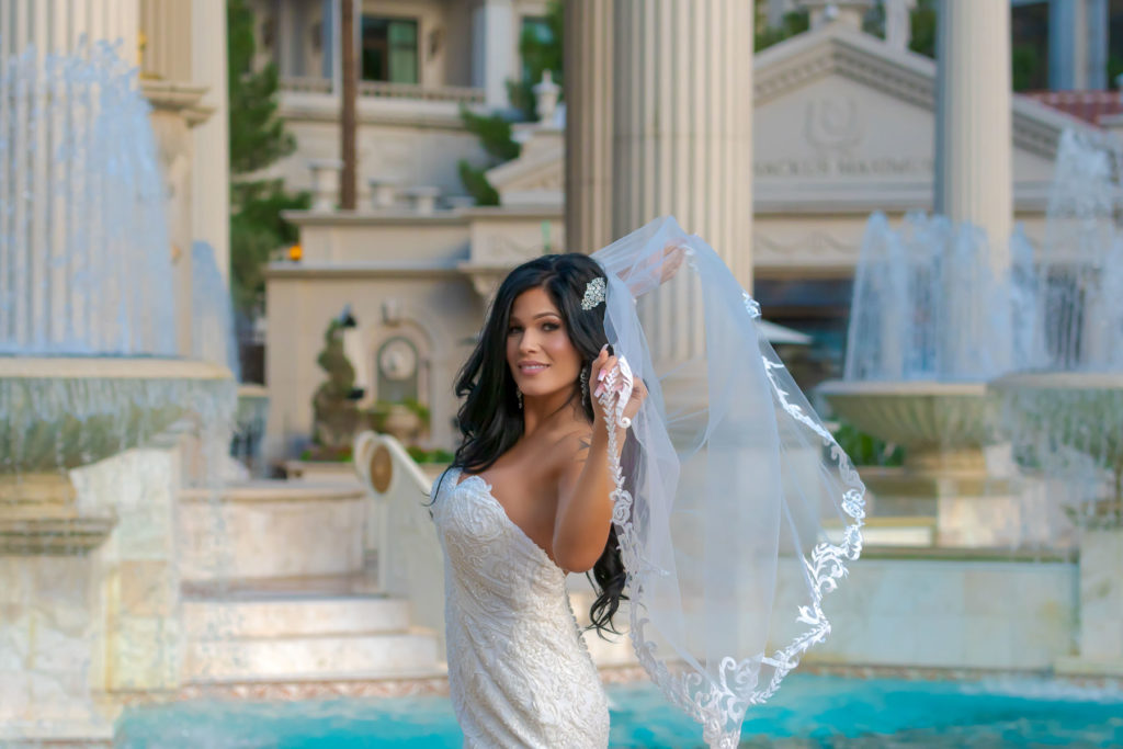 Las Vegas strip wedding photography | Caesars palace weddings