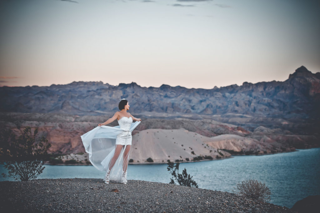Desert wedding photos | Nelson Ghost Town weddings | Agi and Manuel