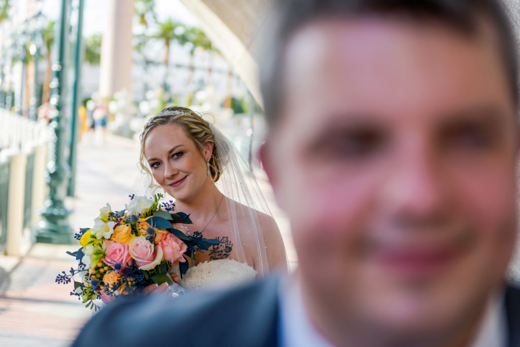 Las Vegas wedding photographer | Las Vegas Strip weddings | Blake and Tamara