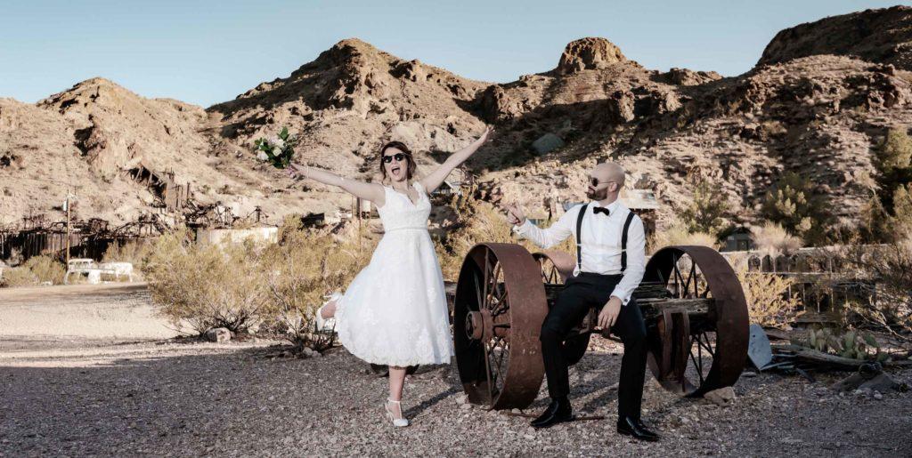 Las Vegas Elopement photos  | Nelson Ghost town elopement photographer
